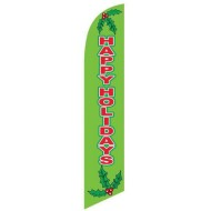 Happy Holidays Feather Flag