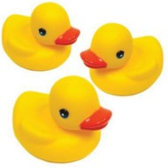 "3"" Floating Yellow Rubber Ducks (pack of 12)"