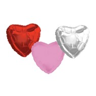 Mylar Heart Balloons (pack of 10)