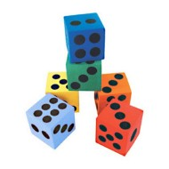 "Foam Dice, 1-1/2"" (dozen)"