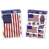 Patriotic Window Clings  (pack of 6)