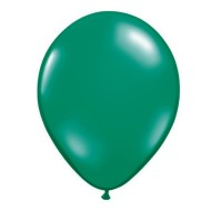 "11"" Qualatex® Jewel Tone Balloons, Emerald Green (bag of 100)"