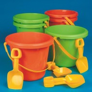 "10"" Jumbo Poly Pails  (pack of 6)"