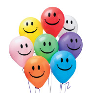 "11"" Smile Balloons, Assorted Colors  (bag of 100)"