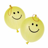 Smile Face Punch Balloons (pack of 12)