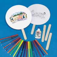 Serve Community Fans Craft Kit (pack of 12)