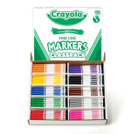 Crayola® Classpack® Markers - 10 Colors, Fine Line  (box of 200)