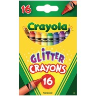 Crayola® Glitter Crayons  (box of 16)