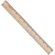 "Beveled 12"" Wooden Ruler  (pack of 12)"