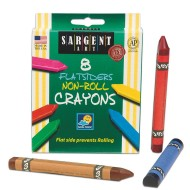 Sargent Art® No Roll Crayons (box of 8)