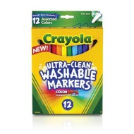 Crayola® Fine Line Washable Markers (box of 12)