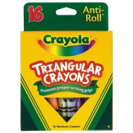 Crayola® Triangular Crayons (box of 16)