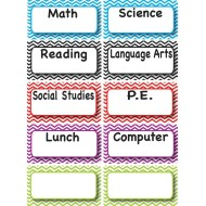 Magnetic Class Subjects (set of 10)