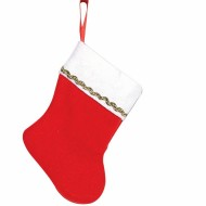 "5 1/2"" Red Plush Stockings  (pack of 12)"