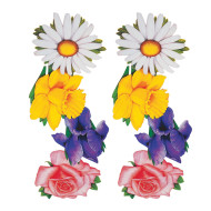 Flower Cutouts  (pack of 4)