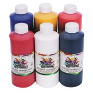 Color Splash!® Washable Tempera Paint, 16 oz.  (pack of 6)