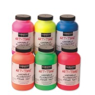Sargent Art® 16-oz. Washable Fluorescent Finger Paint  (set of 6)