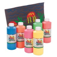16-oz. Color Splash!® Fluorescent Paint Liquid Tempera  (set of 6)