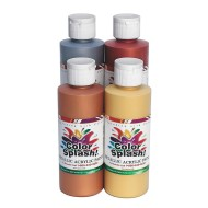 Color Splash!® Metallic Acrylic Paint, 8 oz. (set of 4)