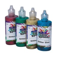 4-oz. Color Splash!® Glitter Glue/Paint Set  (set of 4)