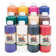 Color Splash!® Washable Tempera Paint, 16 oz. (set of 12)