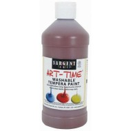Sargent Art® Washable Tempera Paint, 16 oz., Brown