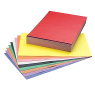 "SunWorks® Groundwood Construction Paper 12""x18"", 10-Color Asst. (pack of 250)"