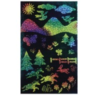 "Rainbow Sparkle Soft-Scratch Glitter Board, 8-1/2""x11""  (pack of 30)"