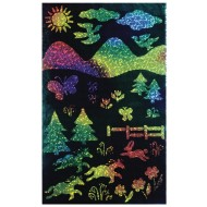 "Rainbow Sparkle Scratch-Art® Soft-Scratch Glitter Board, 8-1/2""x11""   (pack of 10)"
