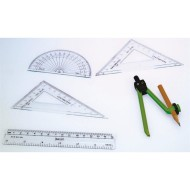 Geometry Math Set, 6 pieces