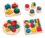 Rainbow Fraction Action Color Sorting Board Set (set of 4)