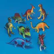 "Plastic Dinosaurs 7"" (set of 8)"