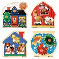 Melissa & Doug® Jumbo Knob Puzzles (set of 4)