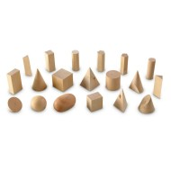 Wooden Geometric Solids Set (set of 19)