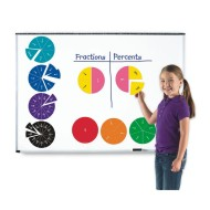 Double-Sided Magnetic Fraction Circles (set of 51)
