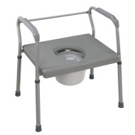 DMI Steel Commode with Platform Seat