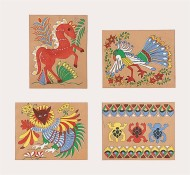 Mexican Bark Painting Group Pack  (makes 24)