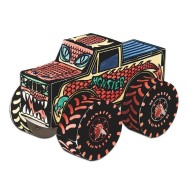 Monster Truck Velvet Art Craft Kit (pack of 12)