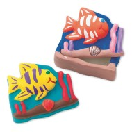 Plaster Fish Box Craft Kit (makes 12)