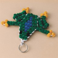 Fuzzy Beaded Froggie Craft Kit (makes 12)