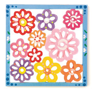 Floral Wood Trivet Craft Kit (makes 12)