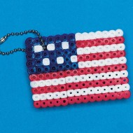 Fuse Bead American Flag Craft Kit (makes 12)