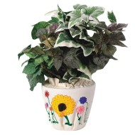 Color-Me™ Flower Pot Cover Craft Kit  (makes 12)
