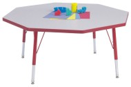 "Rainbow Accents® 48""x48"" Octagon Table, 24-31""H"