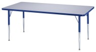 "Rainbow Accents® 30""x72"" Rectangle Table, 15-24""H"