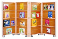 Mobile Library Bookcase - 4-Section