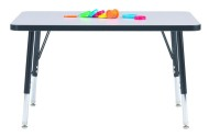 "Rectangular Toddler Table 24"" x 48"", 11-15""H"