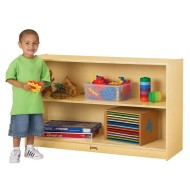 "Low Straight-Shelf Mobile Unit, 48""x15""x29-1/2"""