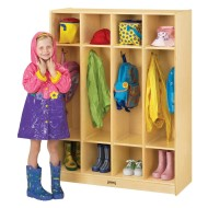 "Coat Locker, 4 Sections, 39""x15""x50-1/2"""