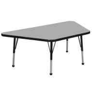 "Activity Table 30""x60"" Trapezoid Gray Top"